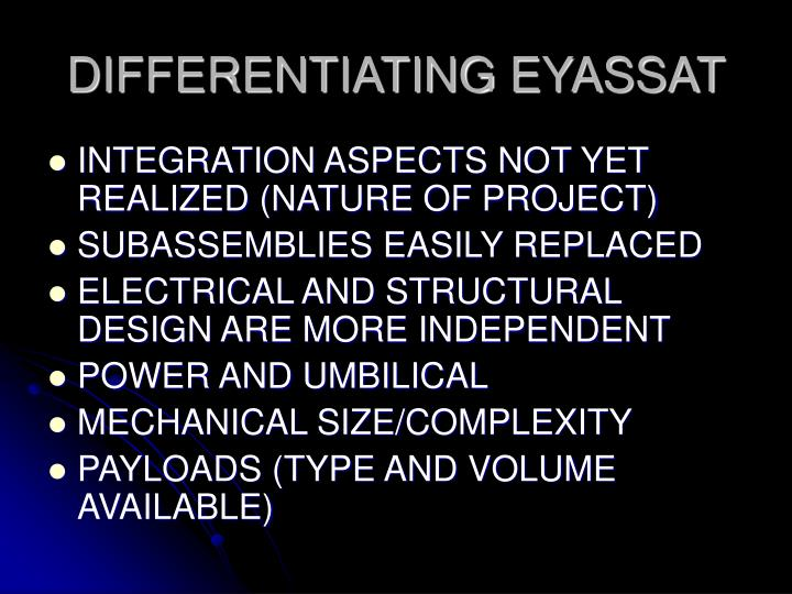 DIFFERENTIATING EYASSAT