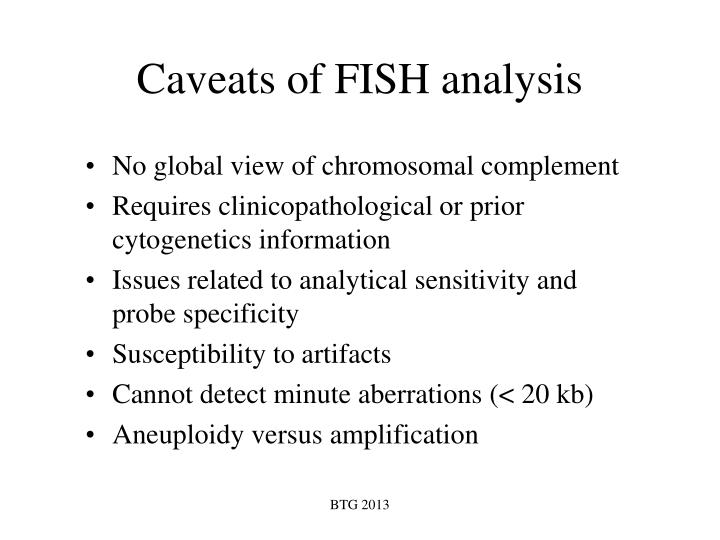 Caveats of FISH analysis