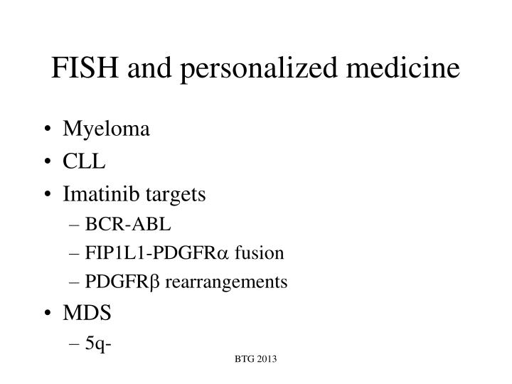 FISH and personalized medicine
