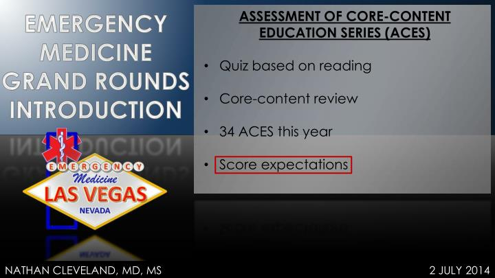 ASSESSMENT OF CORE-CONTENT