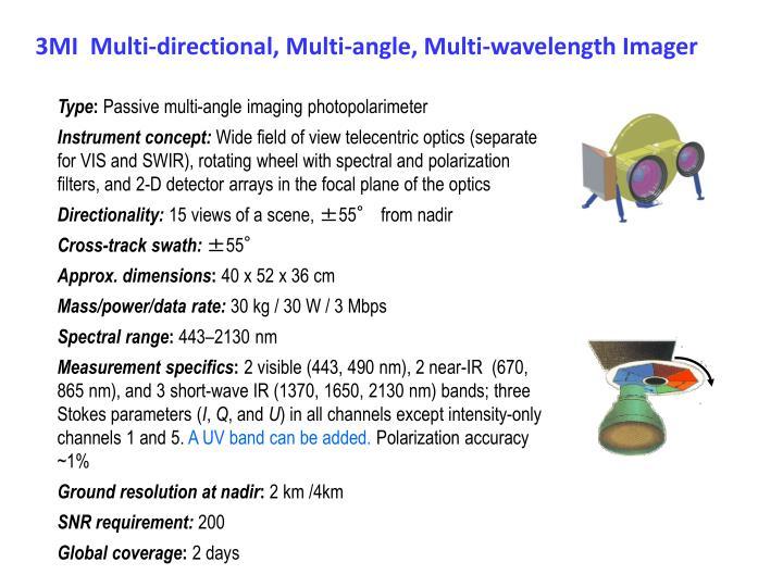3MI  Multi-directional, Multi-angle, Multi-wavelength Imager
