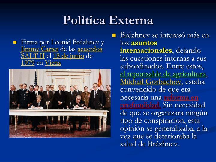 Firma por Leonid Brézhnev y