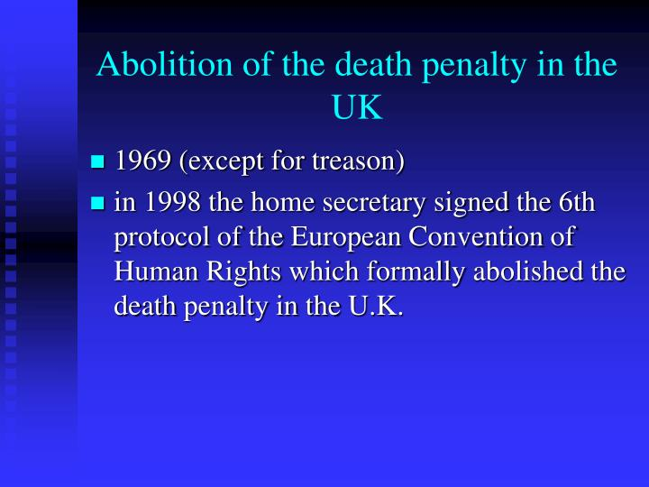 Abolition of the death penalty in the UK