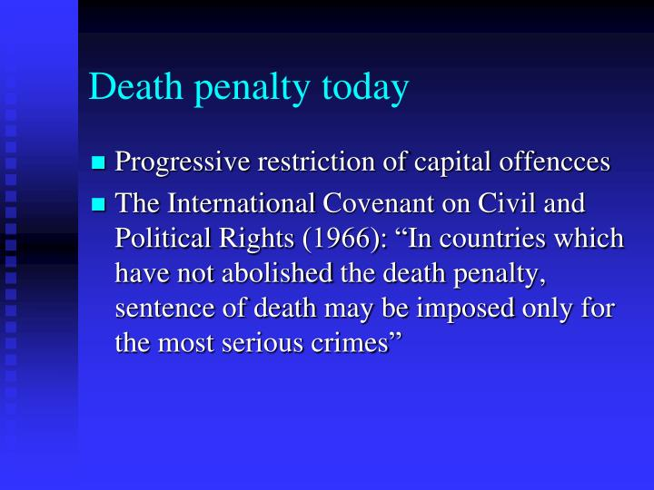 Death penalty today