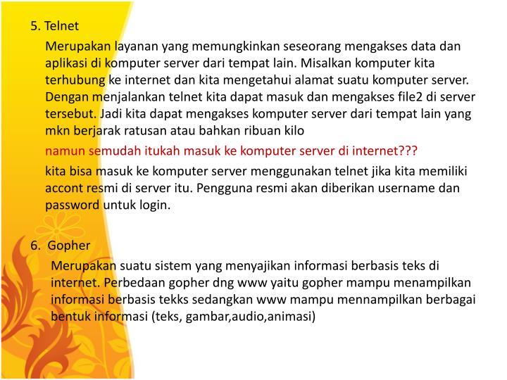 5. Telnet