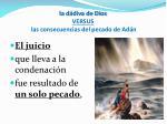 la d diva de dios versus las consecuencias del pecado de ad n1