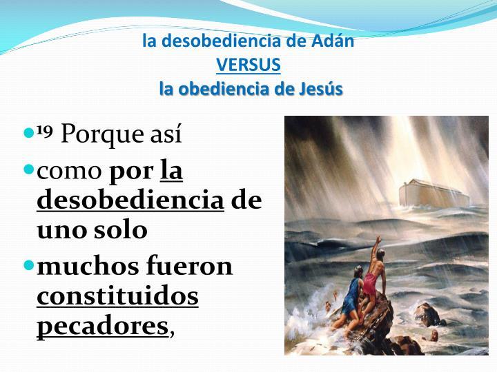 la desobediencia de Adán