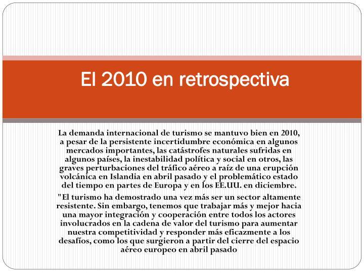 El 2010 en retrospectiva