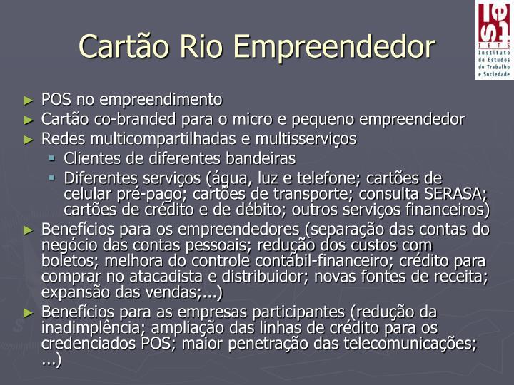 Cartão Rio Empreendedor