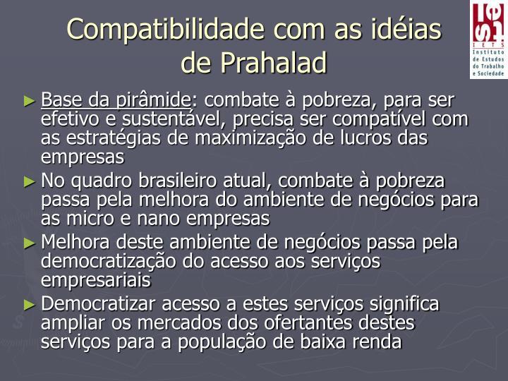 Compatibilidade com as idéias