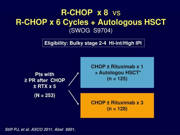 R-CHOP  x 8
