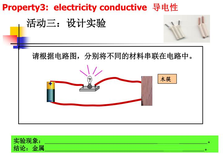 Property3:  electricity conductive