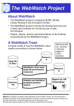 the webwatch project