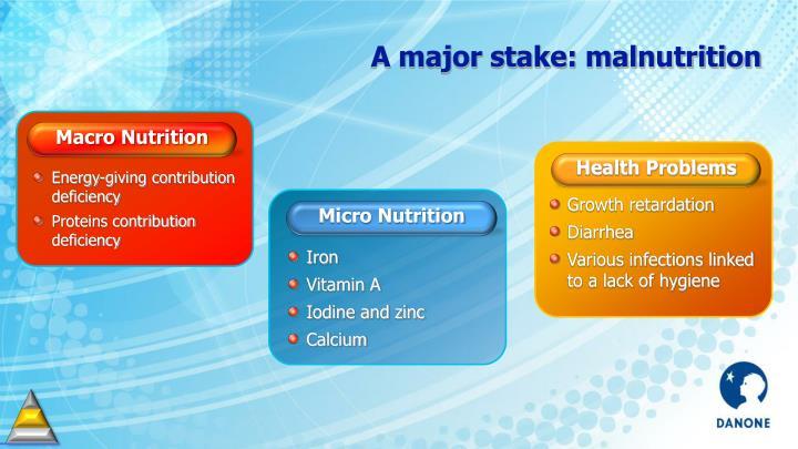 A major stake: malnutrition