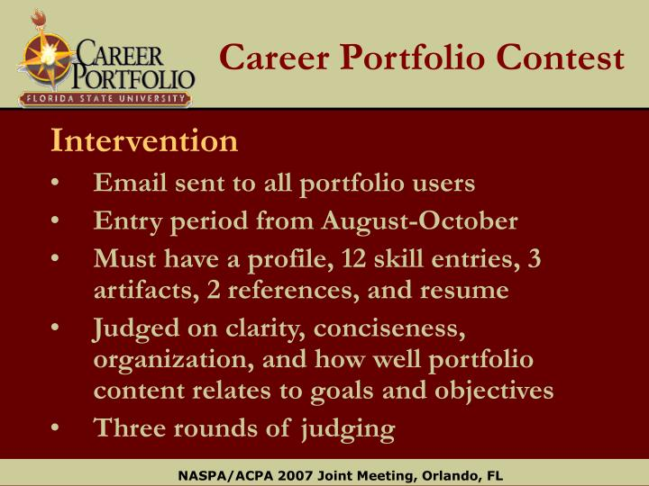 Career Portfolio Contest