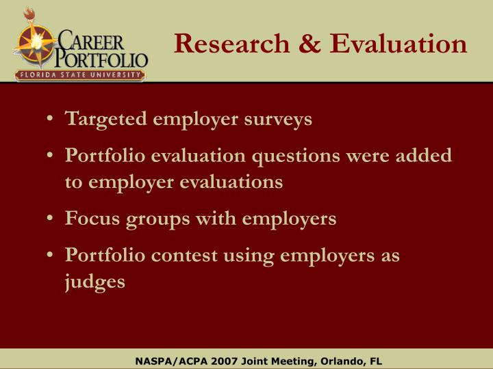 Research & Evaluation
