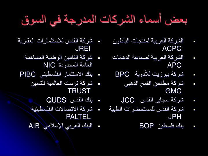 شركة القدس للاستثمارات العقارية