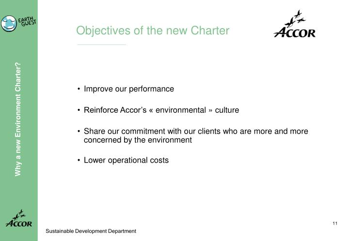 Objectives of the new Charter