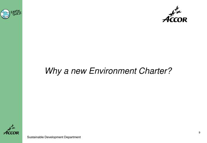 Why a new Environment Charter?