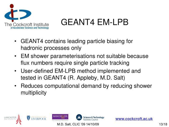 GEANT4 EM-LPB