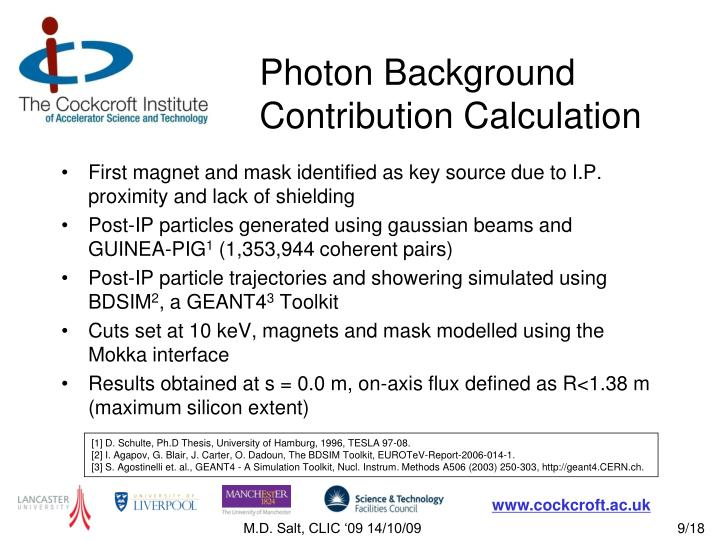 Photon Background Contribution Calculation