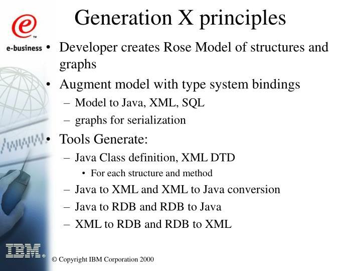 Generation X principles