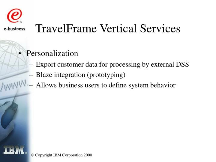 TravelFrame Vertical Services
