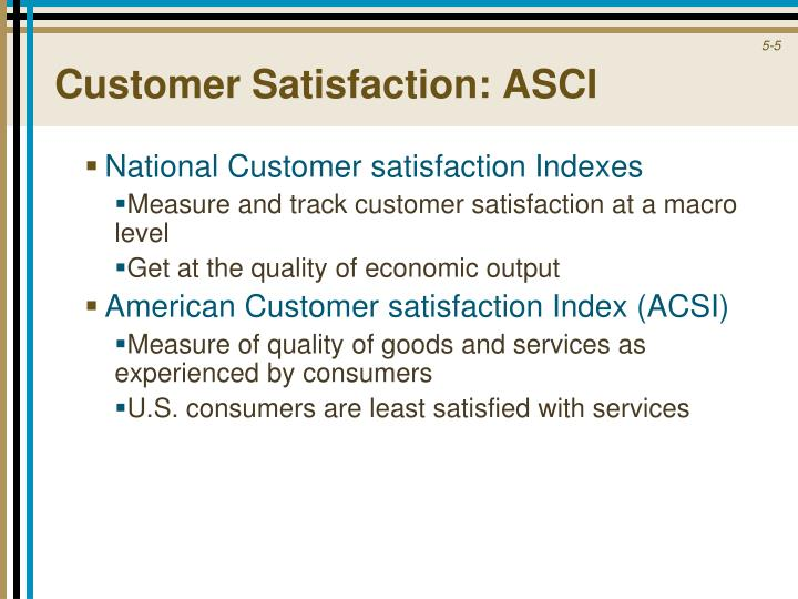 Customer Satisfaction: ASCI