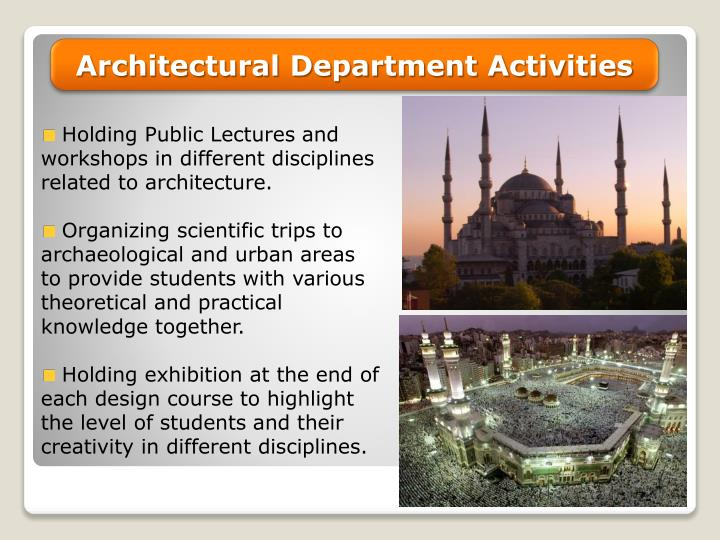Architectural Department Activities