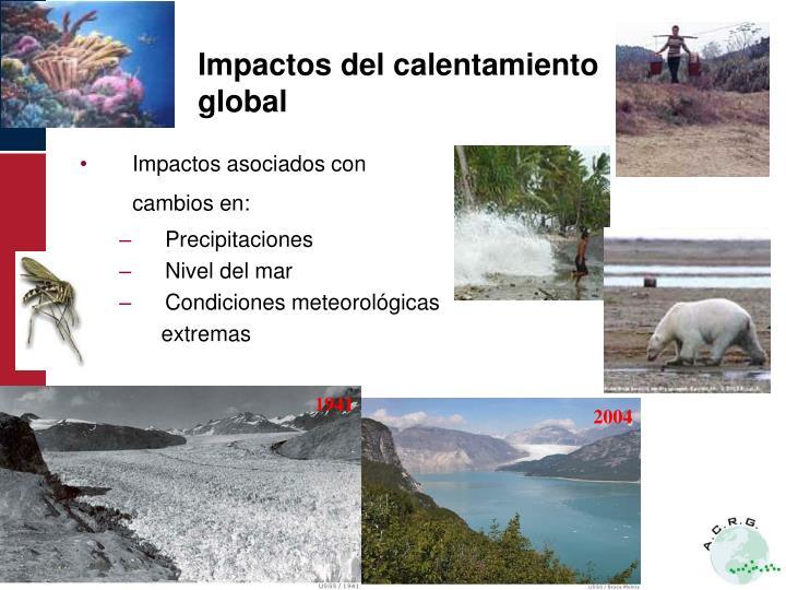 Impactos del calentamiento