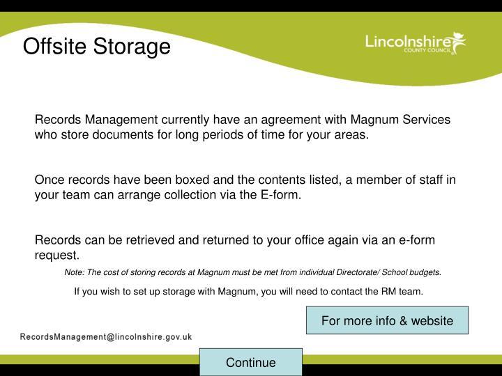 Offsite Storage