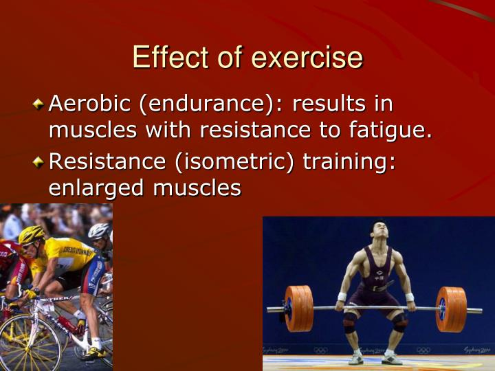 Effect of exercise
