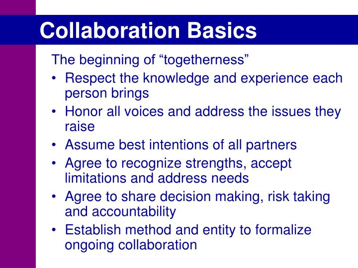 Collaboration Basics