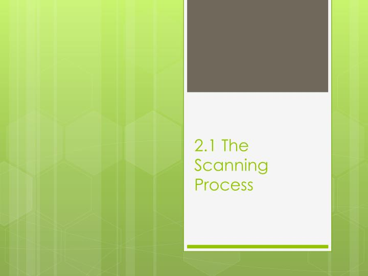 2.1 The Scanning Process