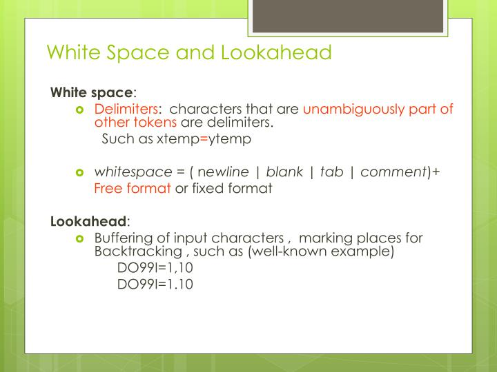 White Space and