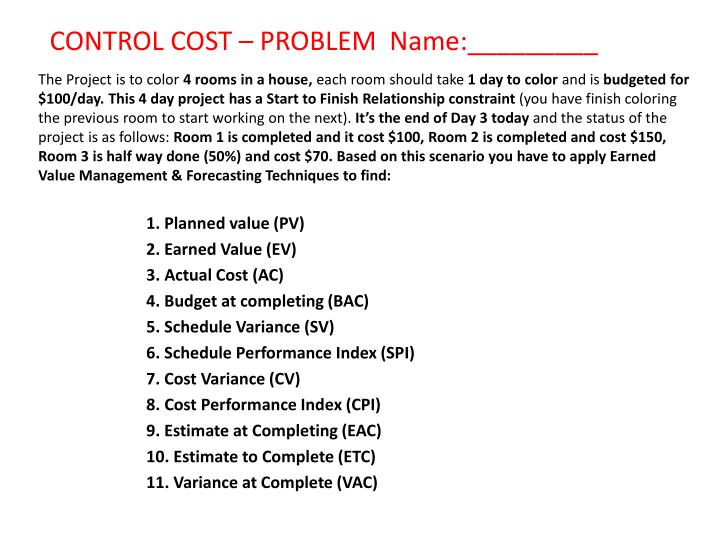 Control cost problem name