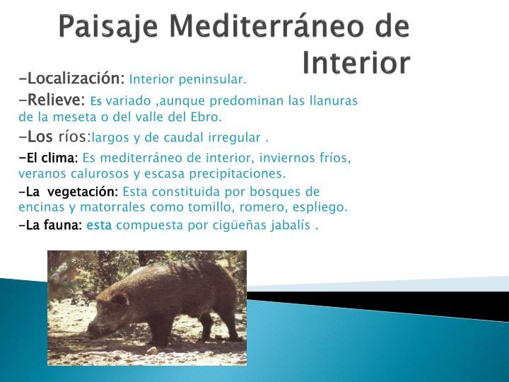 Paisaje Mediterráneo de Interior
