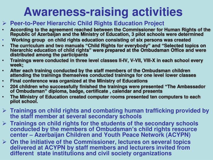 Awareness-raising activities