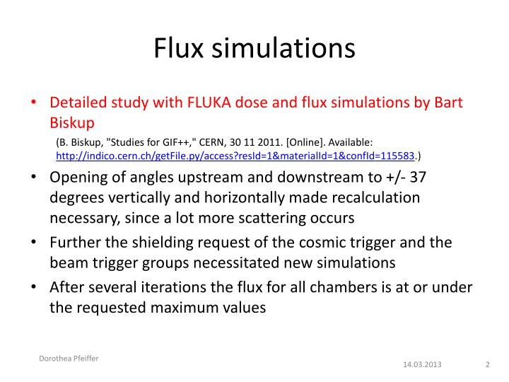 Flux simulations