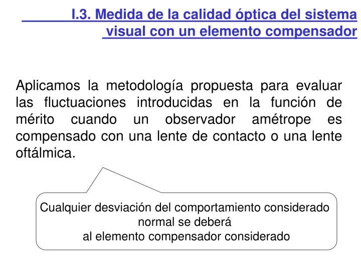 I.3. Medida de la calidad óptica del sistema