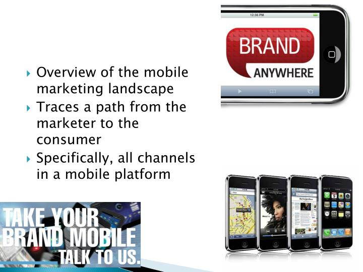 Overview of the mobile marketing landscape