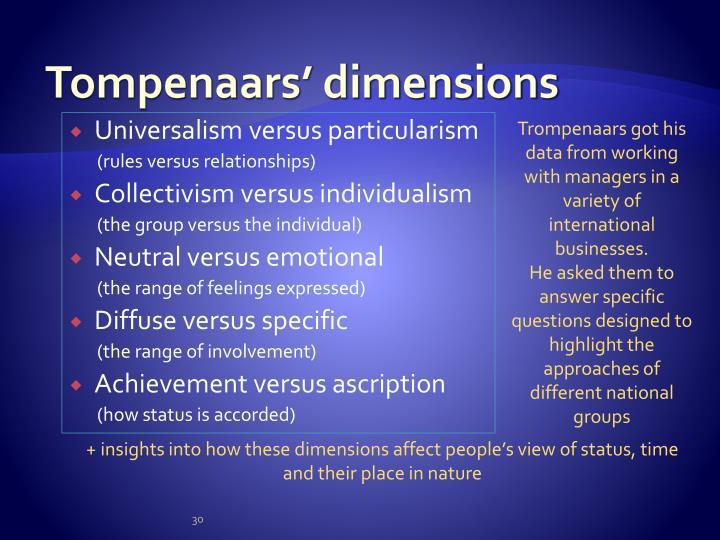Tompenaars' dimensions