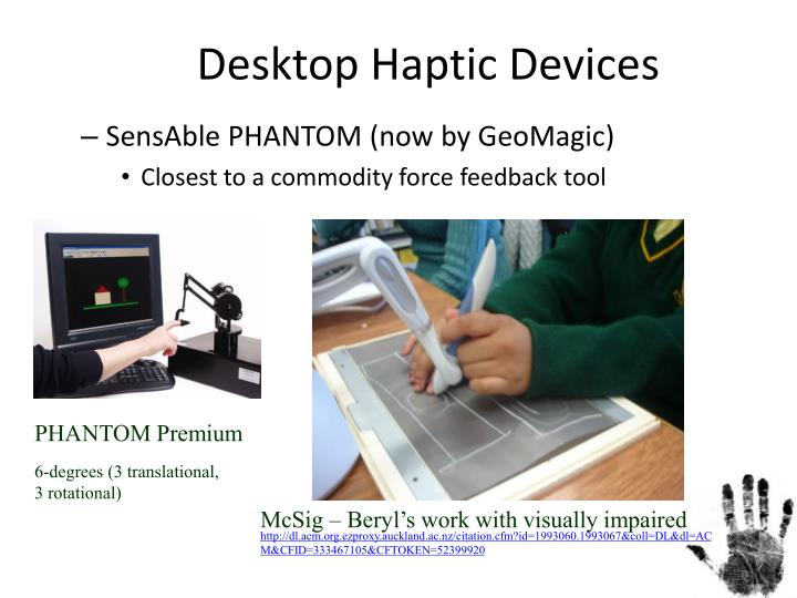 Desktop Haptic Devices