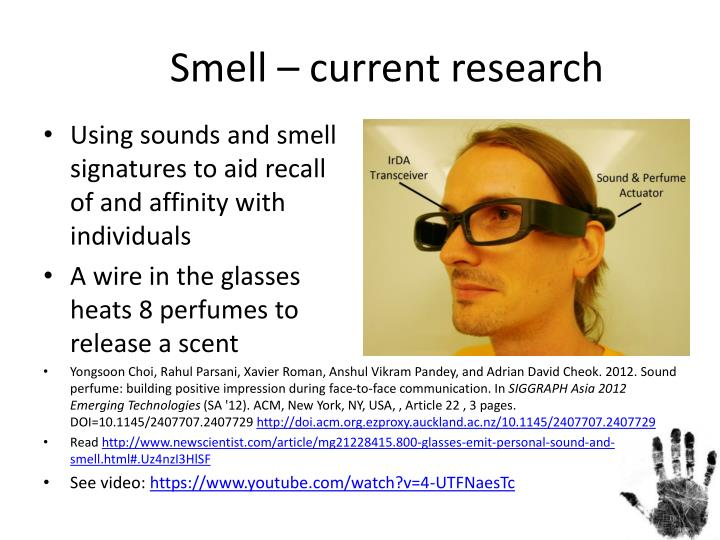 Smell – current research