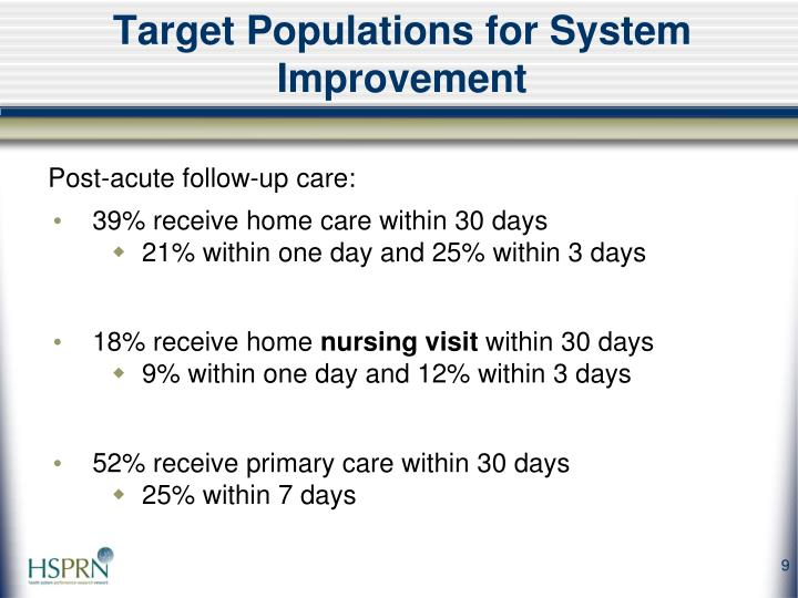 Target Populations for System Improvement