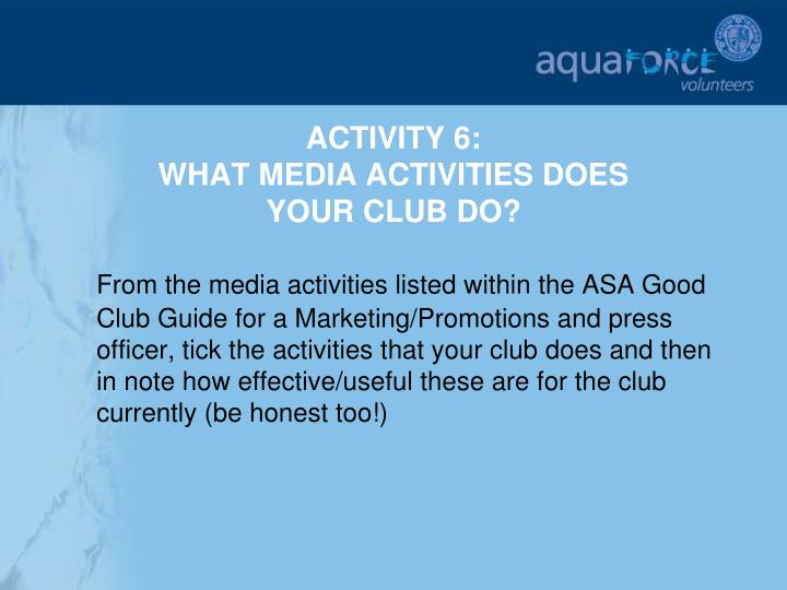 ACTIVITY 6:
