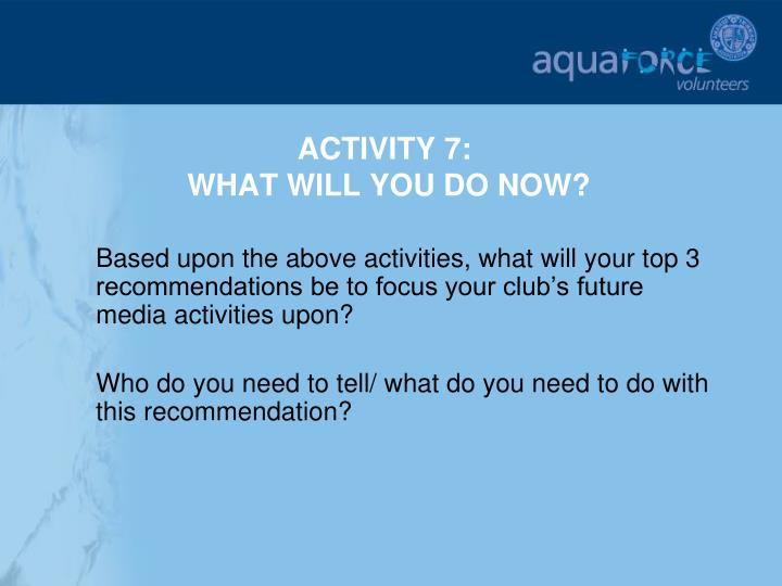 ACTIVITY 7: