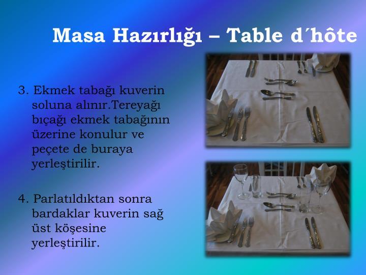 Masa Hazırlığı