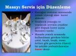 masay servis i in d zenleme