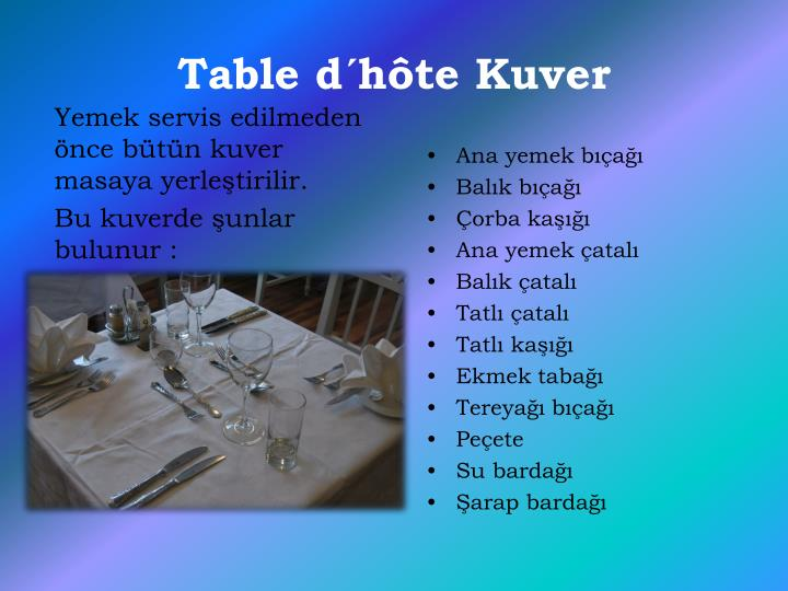 Table d´hôte